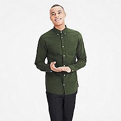 Jack & Jones - Olive green 'Classic' oxford shirt