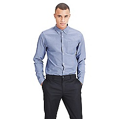 Jack & Jones - Chambray blue 'Classic' long sleeve oxford shirt
