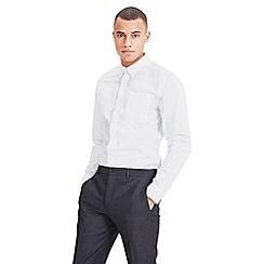 Jack & Jones - White 'Classic' long sleeve oxford shirt