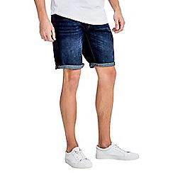 Jack & Jones - Blue 'Rick' mid wash regular fit denim shorts