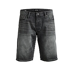 Jack & Jones - Grey 'Rick' regular fit denim shorts