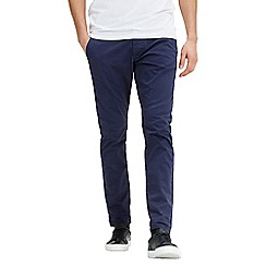 Jack & Jones - Navy 'Marco Enzo' slim fit chino pants