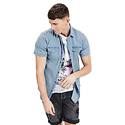 Jack & Jones - Blue 'One' short sleeve shirt