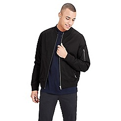 Jack & Jones - Black 'Theis' bomber jacket