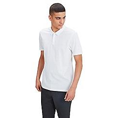 Jack & Jones - White 'Belfast' short sleeve polo shirt