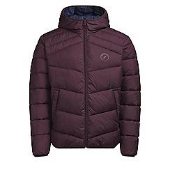 Jack & Jones - Wine 'Landing' puffer jacket