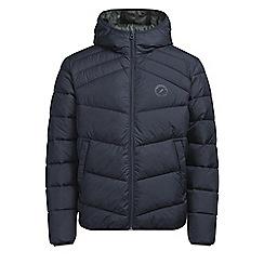 Jack & Jones - Navy 'Landing' puffer jacket