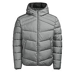 Jack & Jones - Light grey 'Landing' puffer jacket