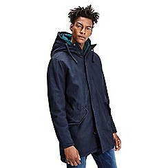 Jack & Jones - Navy fishtail 'Bento' hooded parka jacket