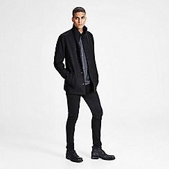 Jack & Jones - Grey 'Moolin' wool jacket