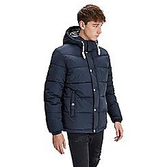 Jack & Jones - Navy 'Figure' puffer jacket
