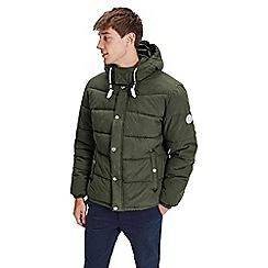 Jack & Jones - Dark green 'Figure' puffer jacket