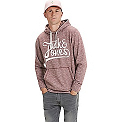 Jack & Jones - Burgundy 'Panther' hoodie
