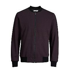 Jack & Jones - Burgundy 'Robin' bomber jacket