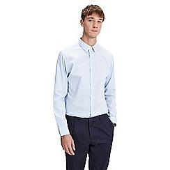 Jack & Jones - Light blue slim fit 'Non iron' shirt