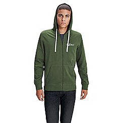 Jack & Jones - Green 'Mills' sweat zip up hoodie
