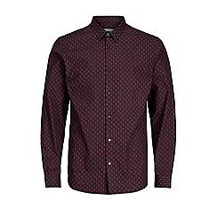 Jack & Jones - Burgundy 'Garret' shirt