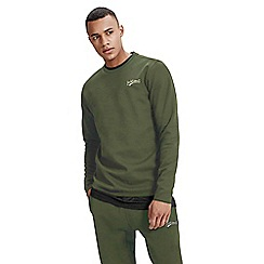 Jack & Jones - Green 'Mills' crew neck sweat