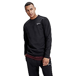 Jack & Jones - Black 'Mills' crew neck sweat