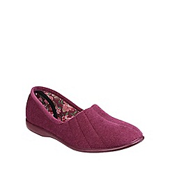 Great British Slippers - Heather 'Audrey' velour womens slipper