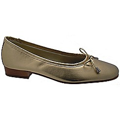 Riva - Gold 'Provence' leather ballerina shoes