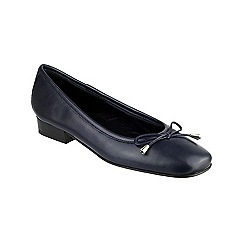 Riva - Navy 'Provence' leather ballerina shoes