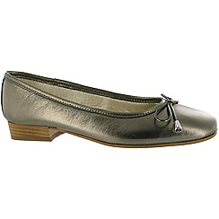 Riva - Pewter 'Provence' leather ballerina shoes