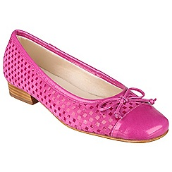 Riva - Fuchsia 'Andros' patent/suede ballerina shoes