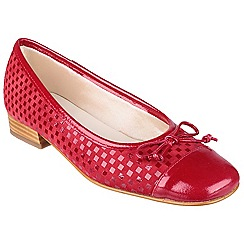Riva - Red 'Andros' patent/suede ballerina shoes