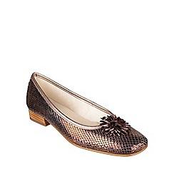 Riva - Bronze 'La plaque' ballerina shoes