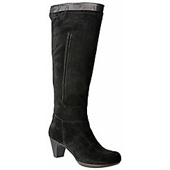 Riva - Black 'Toucan' suede boots