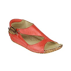 Riva - Coral leather 'Cartier' sandals