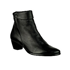 Riva - Black 'Armadillo' Leather boots