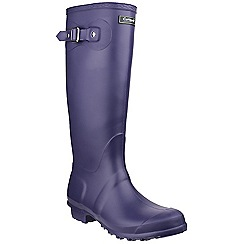 Cotswold - Purple 'Sandringham' wellington boots