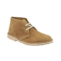 Cotswold - Taupe 'Ashley' lace up desert boots