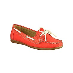 Divaz - Red 'Belgravia' lace up boat shoes