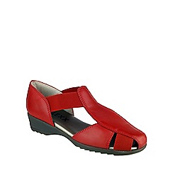 The Flexx - Red 'Mr T Cashmere' wedge sandal