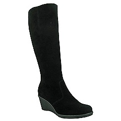 Cotswold - Black 'Bladon' knee high boots
