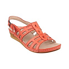 Cotswold - Coral 'Guiting' summer shoes