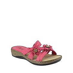 Divaz - Coral 'Crete' slip on sandals