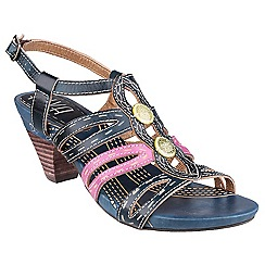Riva - Blue/fuchsia 'Hassell' leather sandals