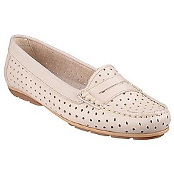 Riva - Beige 'Catch' leather shoes