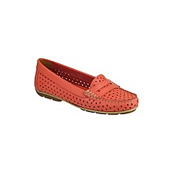 Riva - Coral 'Catch' leather shoes