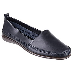 The Flexx - Navy 'Mr softy' leather loafers
