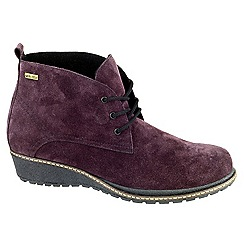 Cotswold - Purple 'Prinknash' ankle boots