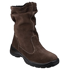 Cotswold - Brown 'Brockworth' calf high boots
