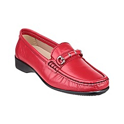 Cotswold - Red 'Barrington' loafers