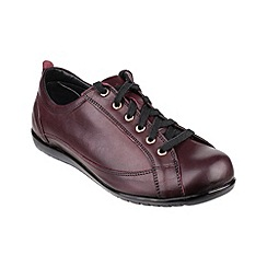 Cotswold - Dark red 'Tidmington' lace up shoes