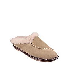 Cotswold - Beige 'Finstock' womens slippers