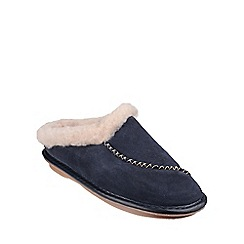 Cotswold - Navy 'Finstock' womens slippers